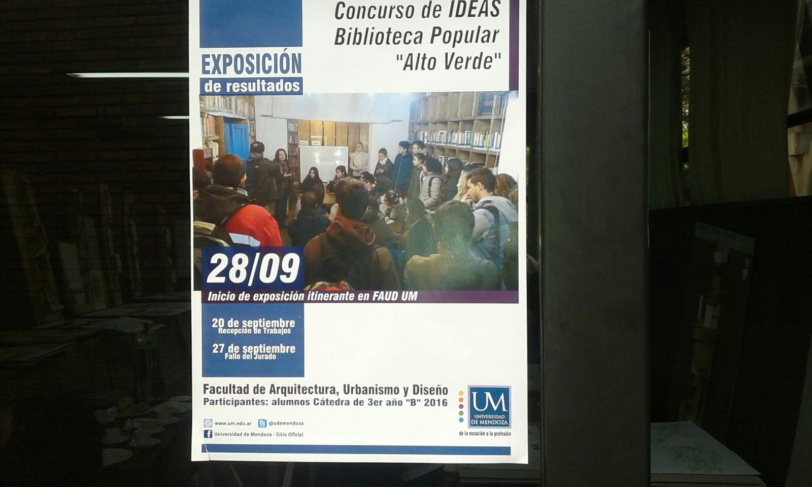 Afiche del Concurso de Ideas de la UM
