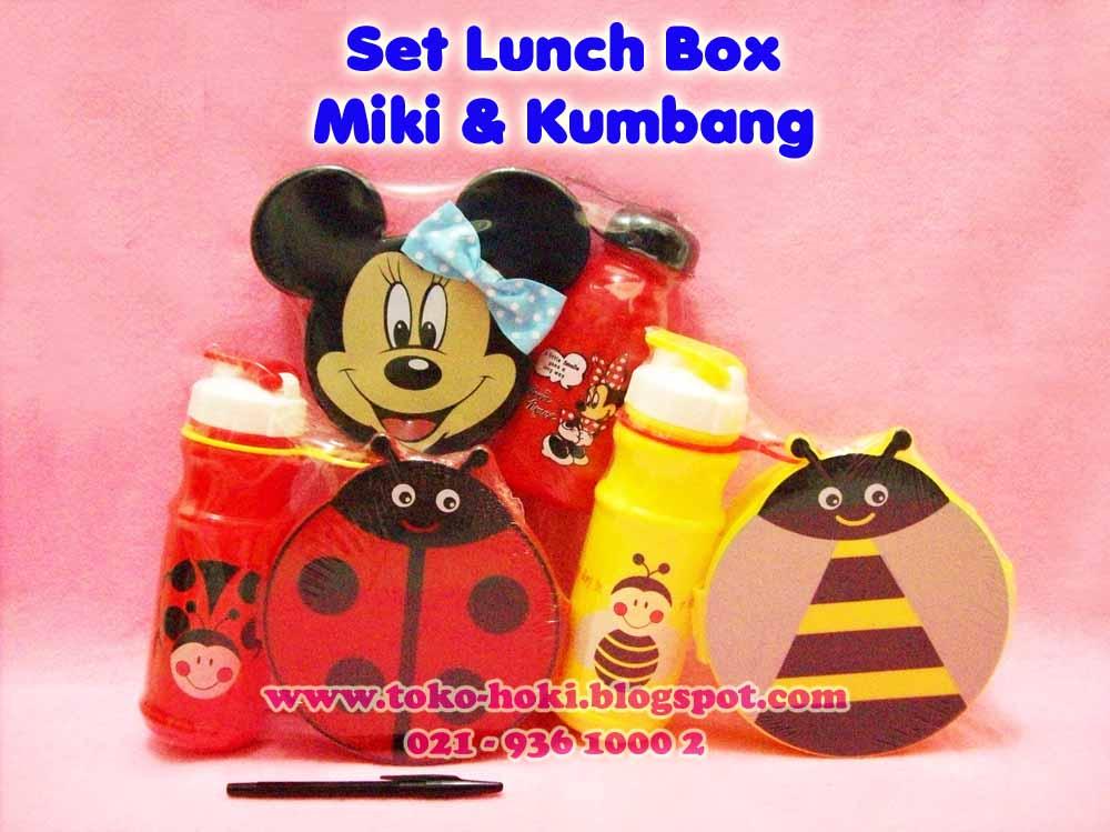 Souvenir Ulang Tahun Anak Murah Set Lunch Box Rumah