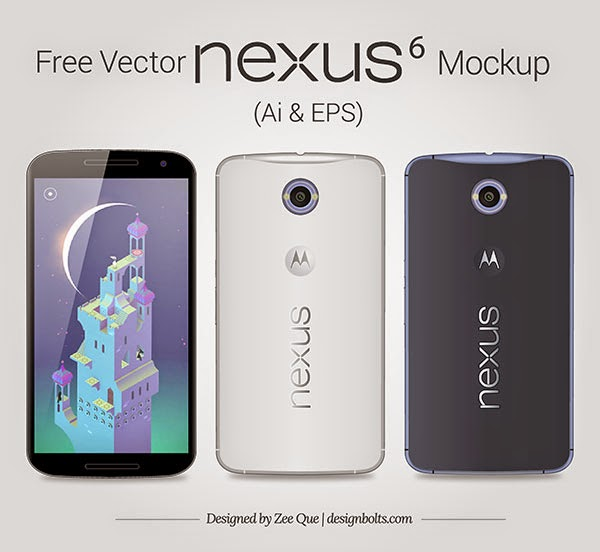 Google Nexus 6 Mockup in Ai & EPS