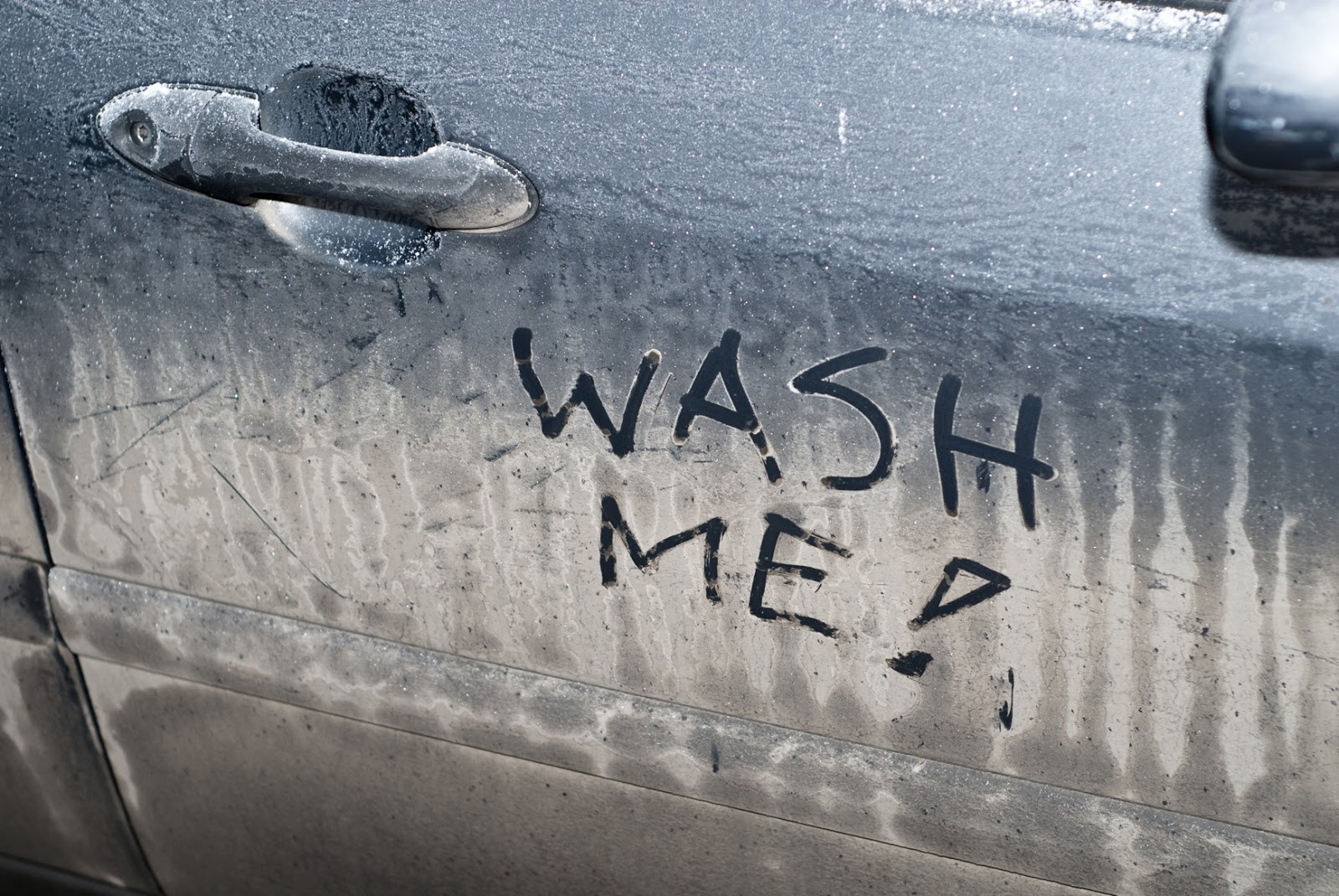 Someone Wrote Wash Me On My Car