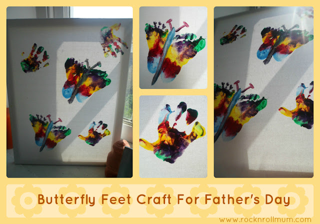 Fathers Day Craft - Butterfly Feet