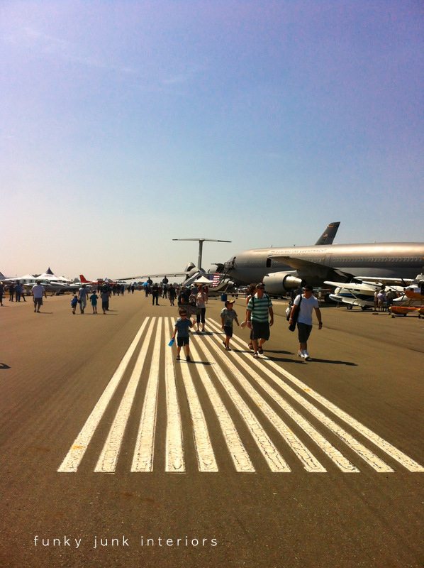 Taking in the amazing Abbotsford Airshow - with live video footage! via Funky Junk Interiors
