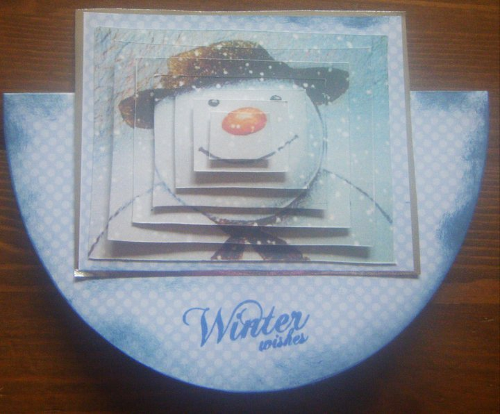 THE SNOWMAN ROCKER CARD