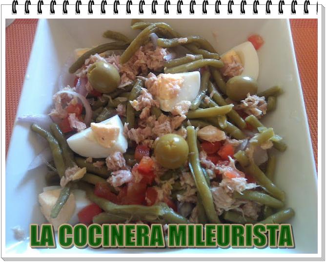 La cocinera mileurista ensalada de jud as verdes con at n - Calorias de las judias verdes ...