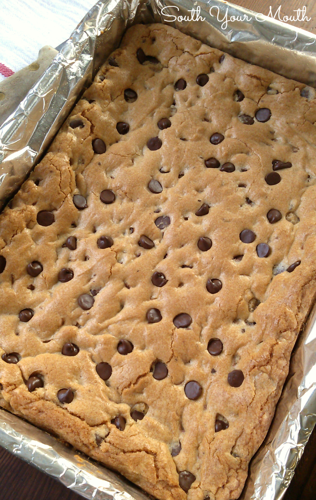 South Your Mouth: Chewy Chocolate Chip Cookie Bars
