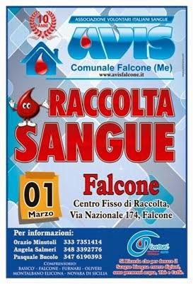 Domenica 1 M,ARZO 2015 dalle ore 8.00 alle ore 12.00 CENTRO FISSO DI RACCOLTA - FALCONE