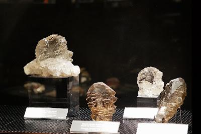 gwindels du Mont-Blanc exposés au Musée des cristaux de Chamonix