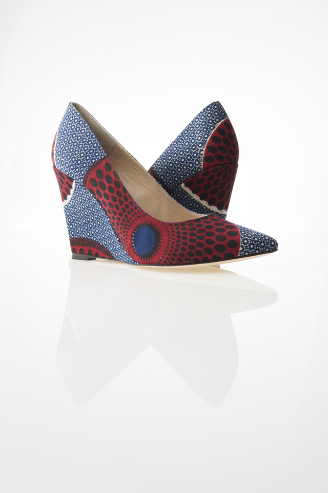 African Print shoes-wedge by Sara Coulibaly on ciaafrique.com