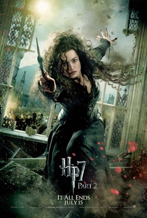 Harry Potter Deathly Hallows 2 Bellatrix Lestrange poster