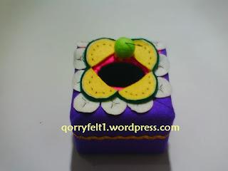 Tempat Tisu Hias Flanel Bentuk Kotak / Persegi