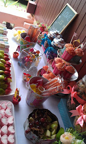 sweet peach engagement buffet