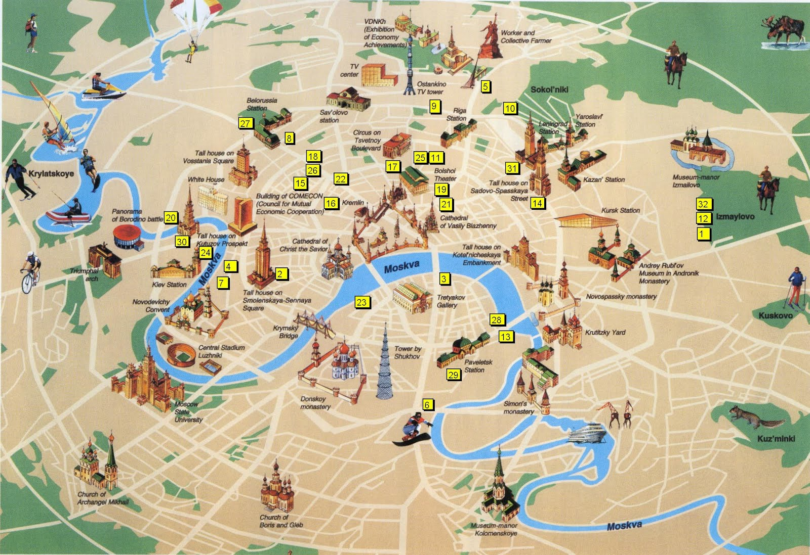 Luxemburgo Mapa Turistico
