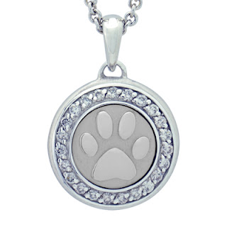 Paw with Diamonds Precious Vessel Cremation Ash Pendant