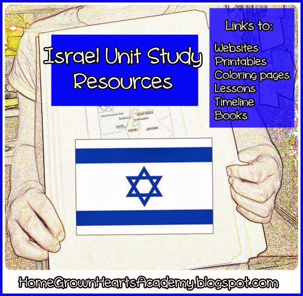 Israel Unit Study, Israel Printables, Israel for kids