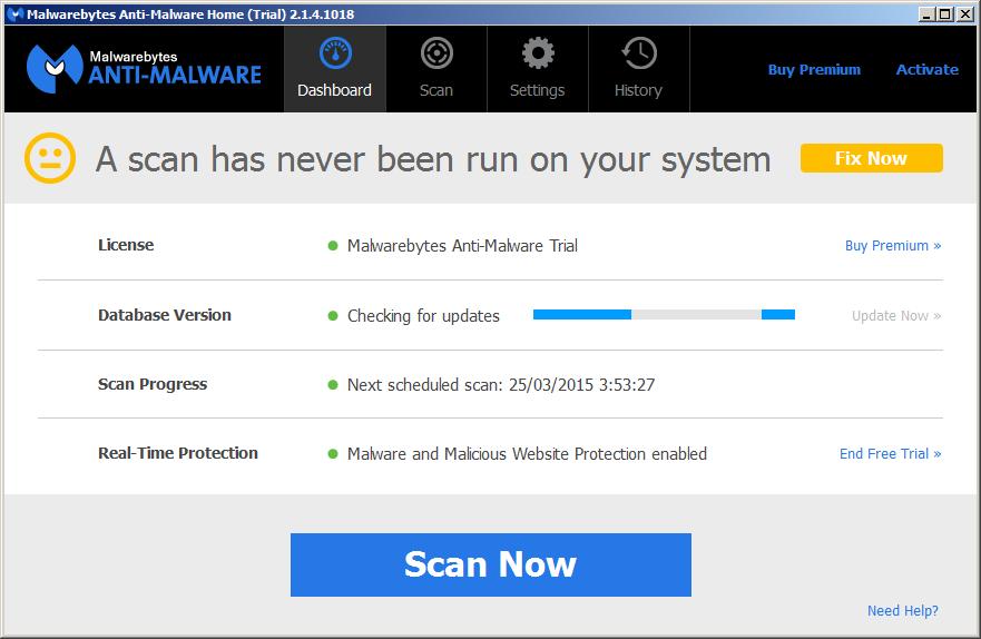 PreScan Malwarebytes