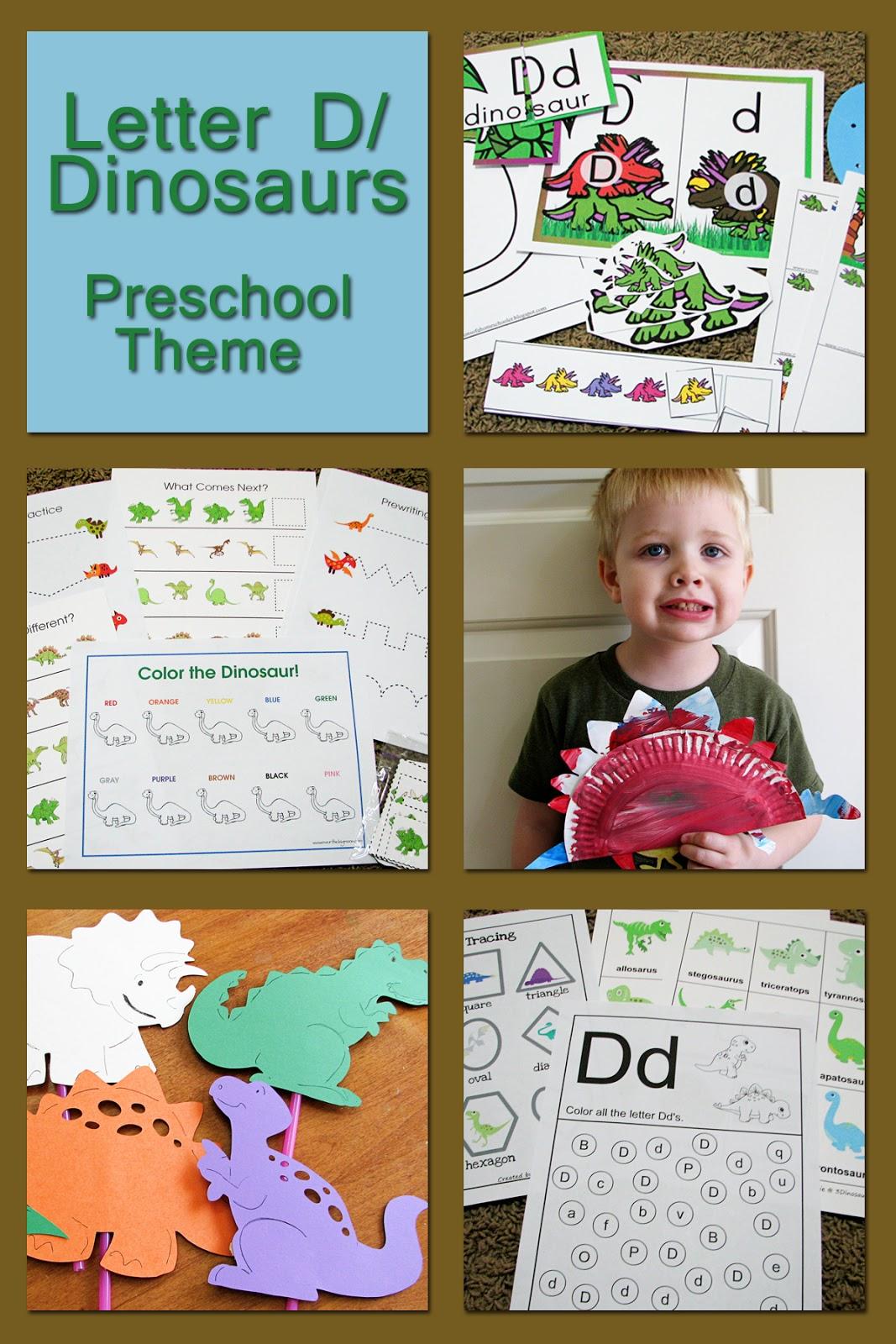 mommy u0026 39 s little helper  letter d  dinosaur preschool theme