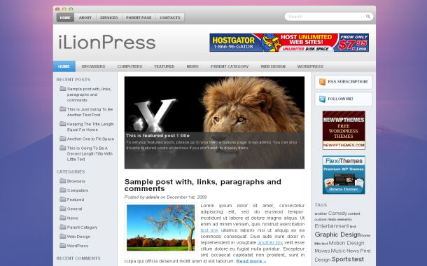 Free Wordpress Vista Pink Jquery Theme Template