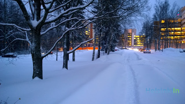 deep snow in Espoo