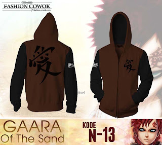 Jaket Anime Naruto - Gaara - N13