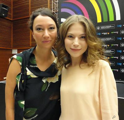 Ursula Strauss y Nora Von Waldstätten - rueda de prensa de October November