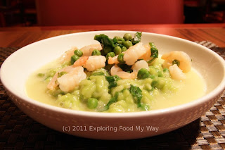 Shrimp and Pea Risotto with Local Ramps