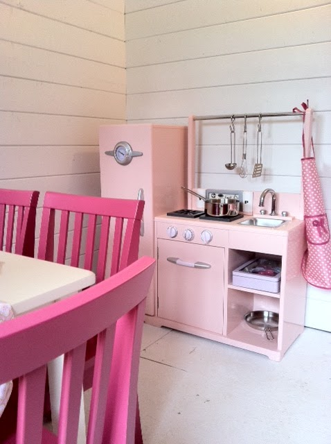 A well lived life little girl 39 s dream house for Playhouse kitchen ideas