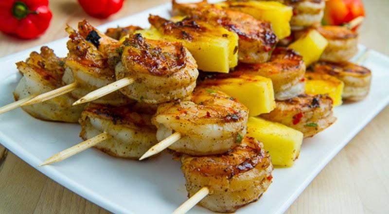 Kebab Udang Nanas