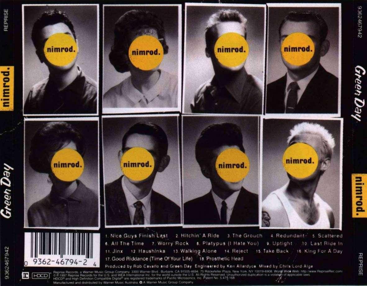 A2 Media Blog: Green Day - Nimrod (Digipak Research)