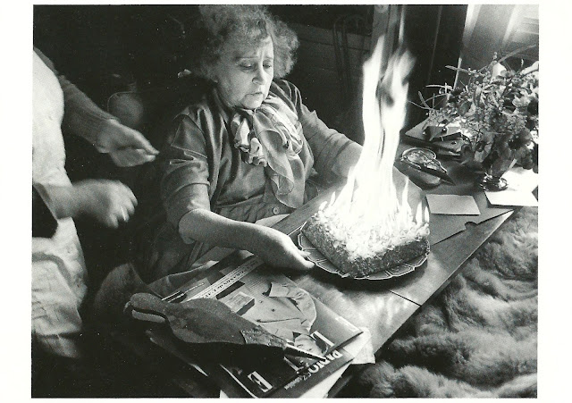 My Favorite Funny Postcards: Birthday Cake on Fire - From Germany
