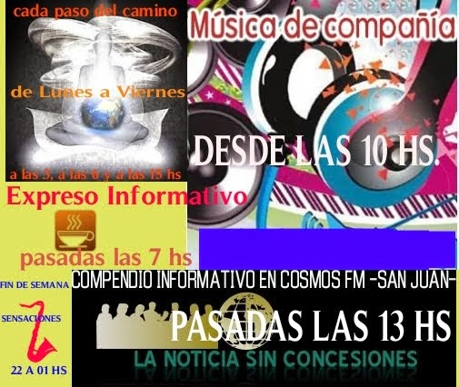 PROGRAMACIÓN DE COSMOS FM SAN JUAN