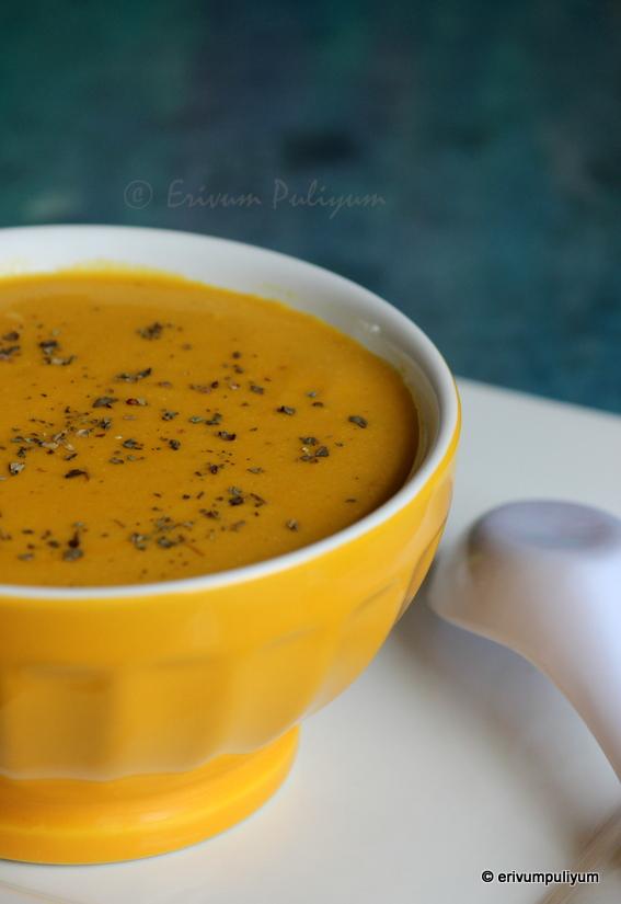 Erivum Puliyum: Creamy Summer Squash-Carrot(Roasted) Soup ...
