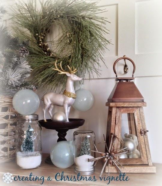 a farmhouse christmas creating a vignette - A Farmhouse Christmas