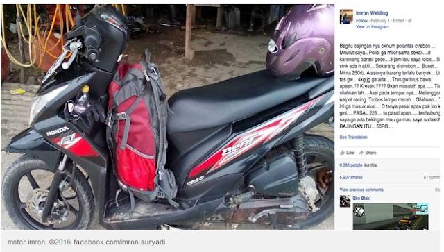 HANYA Bawa Tas, Pemotor Ini Ditilang Polisi Cirebon dan dimintai Rp 250 ribu