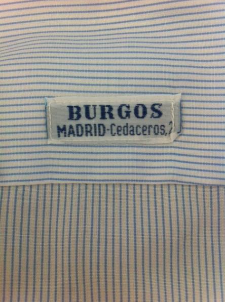 ETIQUETA CAMISERÍA BURGOS