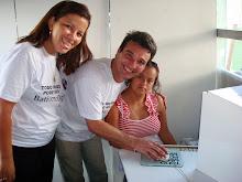 Carlinhos e Elma como monitores