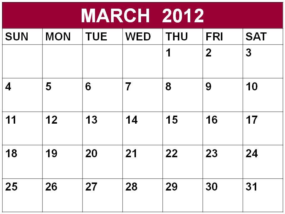 march 2012 calendar. Calendar+2012+march
