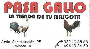PASAGALLO... La tienda de tu mascota 922106568 y 696192430