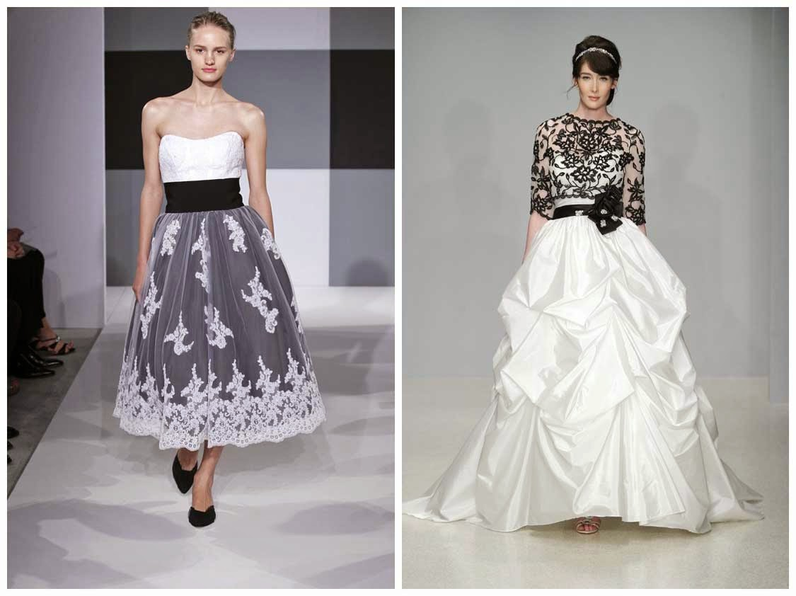 White Wedding Dresses With Black Accents Concepts Ideas Photos HD