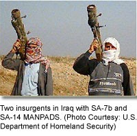 Iraqi insurgents with MANPADS