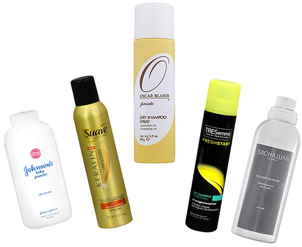 Dry shampoo from Pronto, Suave, TRESemme and Sachajuan