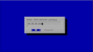 Default gateway NAS4Free