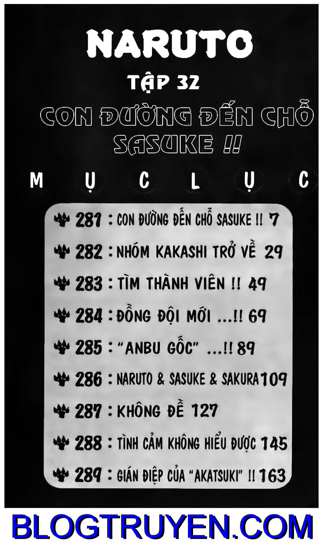 Naruto chap 281 Trang 1 - Mangak.info