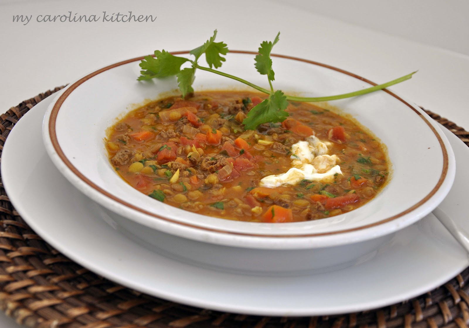 My Carolina Kitchen: Indian-Spiced Lentils and Lamb Stew