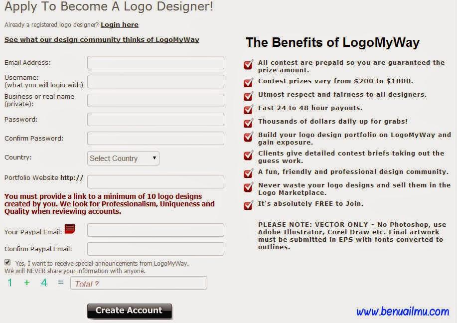 mendaftar di logomyway