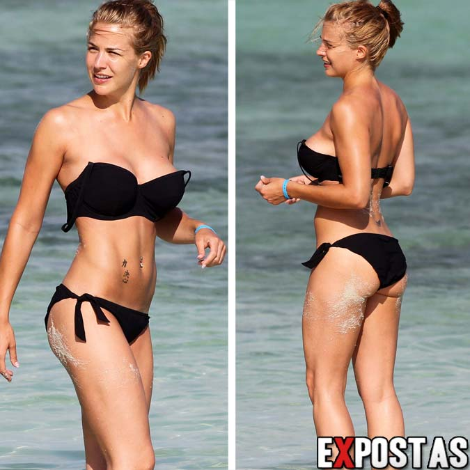Gemma Atkinson: Bikini candids em praia de Aruba - Caribe - Outubro de 2012