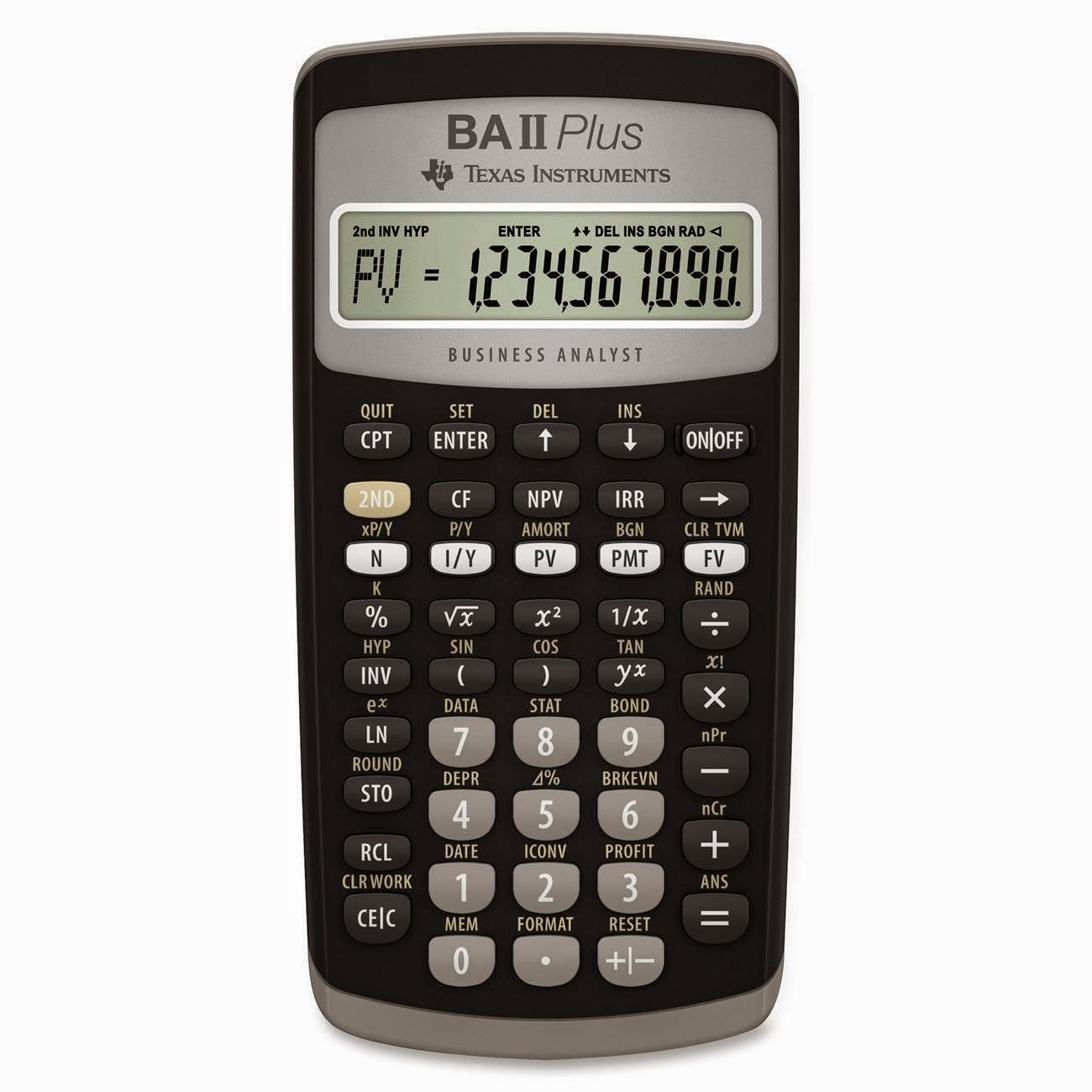 http://www.amazon.com/Texas-Instruments-Plus-Financial-Calculator/dp ...