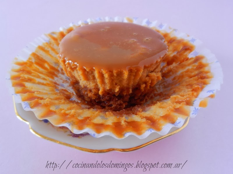 cheesecakes de dulce de leche y brownie