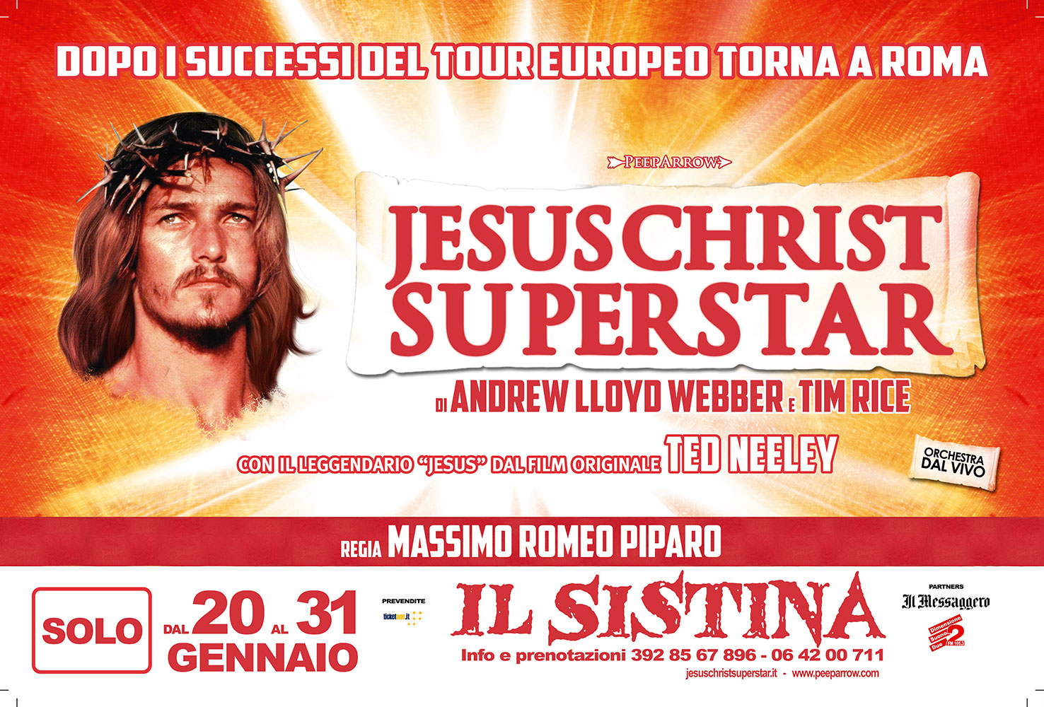 Jesus Christ Superstar: al Sistina per le ultime repliche in Italia