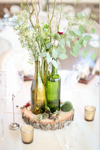 Centros de mesa con botellas de vino i - Centros para decorar mesas ...