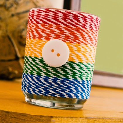 DIY Baker's Twine Votive and Container